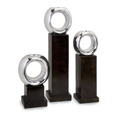 IMAX Ellipse Poly Resin Votives (Set of 3)
