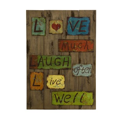 Life Laugh Love Wall Decor