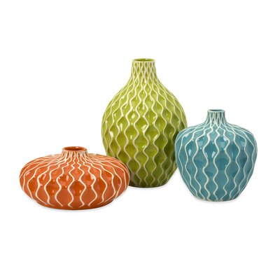 IMAX Agatha Ceramic Vase (Set of 3)