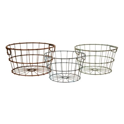 IMAX Kristley Metal Basket (Set of 3)