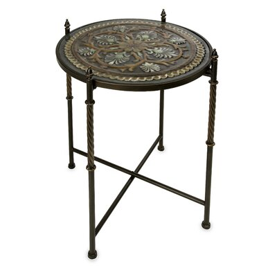 IMAX Medallion Glass Top Table