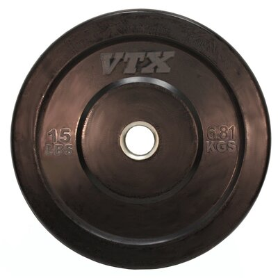 VTX by Troy Barbell VTX 15 lbs Solid Rubber Bumper Plate