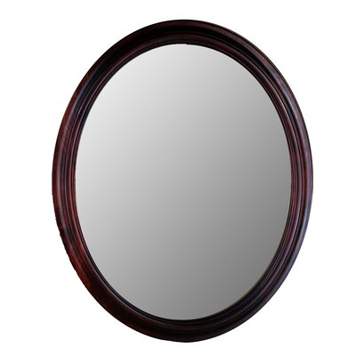 Hitchcock Butterfield Company Traditional Series Oval Mirror in Cherry