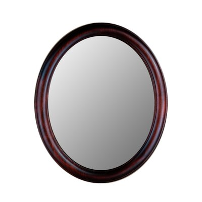 Hitchcock Butterfield Company Premier Series Oval Mirror in Cherry