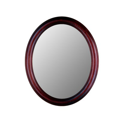 Hitchcock Butterfield Company Premier Series Oval Mirror in Rosewood