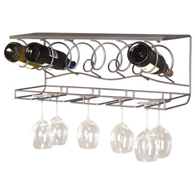 Oenophilia 6 Bottle Wall Mounted Wine Rack