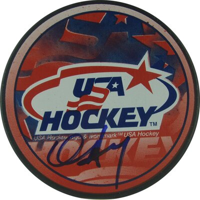 Steiner Sports Chris Drury Team USA Autograph Signed Puck