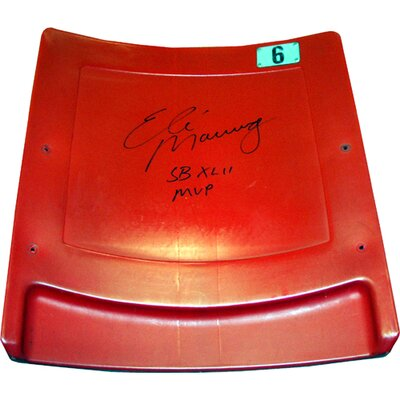 Steiner Sports Eli Manning Autographed Authentic Meadowlands Seatback with Special Inscription