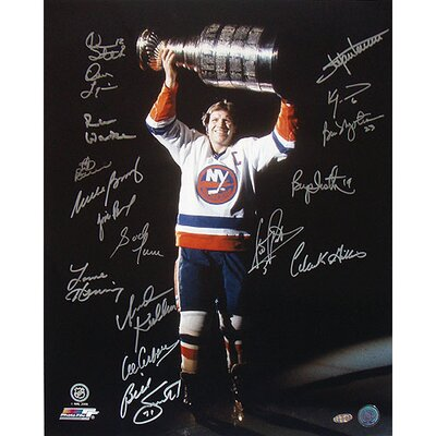 Steiner Sports NHL Dennis Potvin with Stanley Cup in the Dark 17 Signature photograph