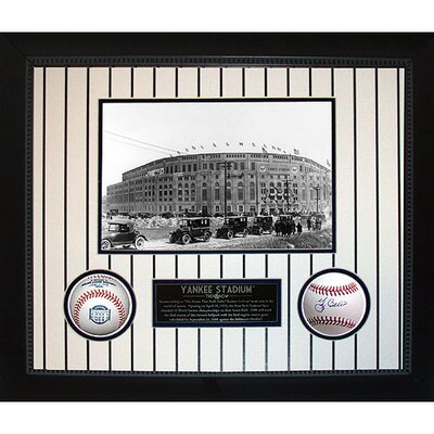 Steiner Sports Yankee Stadium Then and Now Collage with Yogi Berra MLB Baseball Shadow Box