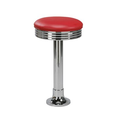 "Regal 26"" Steel Bolt Down Backless Metal Swivel Diner Counter Stool"