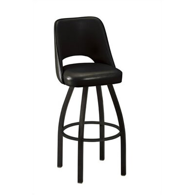 "Regal Cut-Out Back 30"" Metal Swivel Bucket Barstool"
