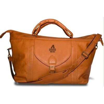 "Pangea Brands MLB 25"" Leather Top Zip Travel Duffel"