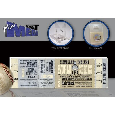 That's My Ticket MLB 1948 World Series Mini Mega Ticket - Cleveland Indians