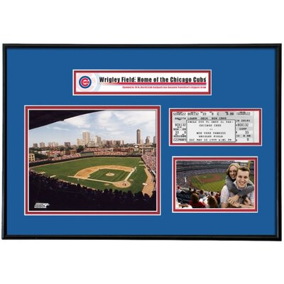 That's My Ticket MLB That's My Ticket Wrigley Field Ticket Frame (Vertical) - Chicago Cubs