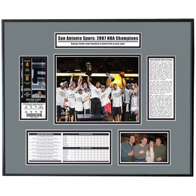That's My Ticket NBA 2007 Finals Ticket Frame - Team Celebration - San Antonio Spurs