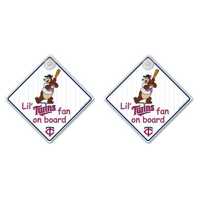 Team Pro-Mark MLB Lil Fan on Board Sign (Set of 2)
