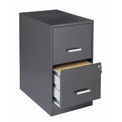 "CommClad Home Office  22"" Deep 2 Drawer Vertical Smart File Cabinet"
