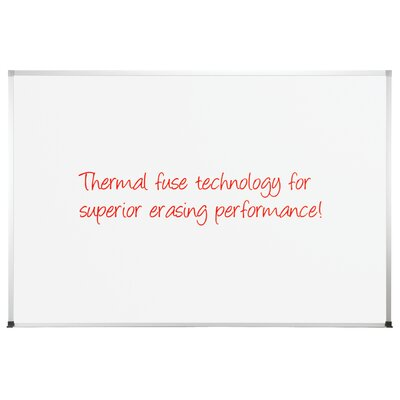 "CommClad 48"" x 72"" Thermal-Fused Melamine Dot Grid Whiteboard with Aluminum Trim"