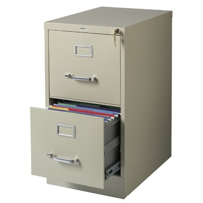"CommClad 22"" Deep 2-Drawer Letter-Size Commercial Vertical File"