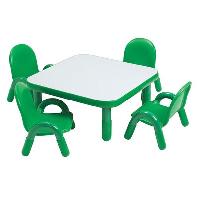 Square Baseline Toddler Table And Chair Set in Shamrock Green