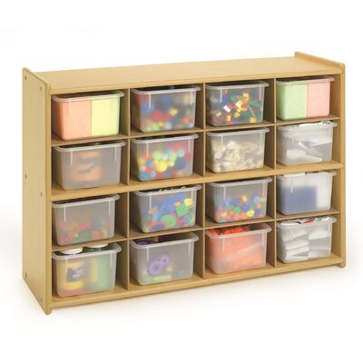 Angeles Value Line 16 Cubbie Storage with Trays