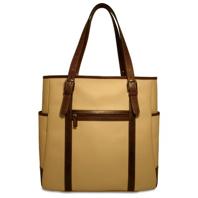 Jack Georges Lugano Oversized Tote in Cream