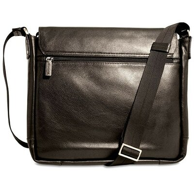 Jack Georges Soho Slim Messenger Bag in Black