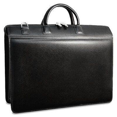 Jack Georges Prestige Triple Gusset Zip Top Briefcase