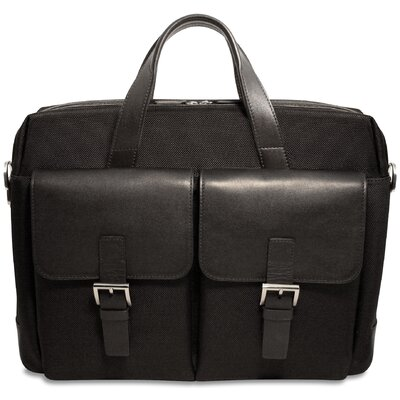 Jack Georges Generations Lite Top Zip Briefcase in Black