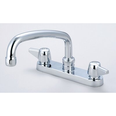 "Central Brass Double Handle Centerset Kitchen Faucet with 6"" Centers"
