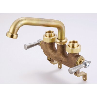 Central Brass Laundry Faucet with 3.5 Centers and Straddle Legs