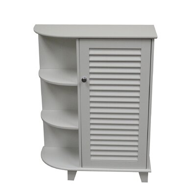 Ellsworth Floor Cabinet with Door and Side Shelves