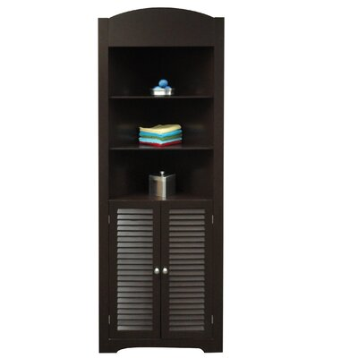 RiverRidge Home Products Ellsworth Tall Corner Etagere with Three Open Shelves On Top