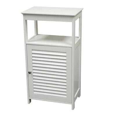 Ellsworth Single Door Floor Cabinet with Door and Open Shelf