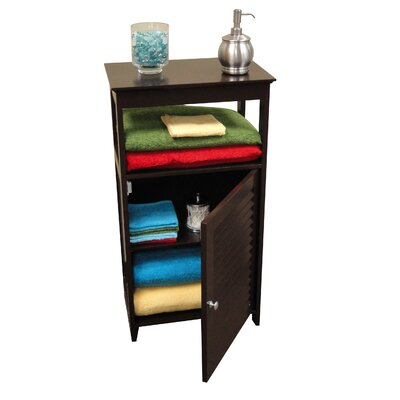 RiverRidge Home Products Ellsworth Single Door Floor Cabinet with Door and Open Shelf