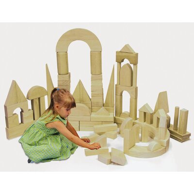 ECR4kids 680 Piece Hardwood Building Block Set