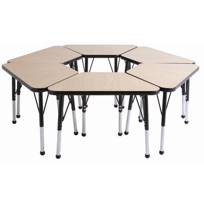 "ECR4kids 20"" x 33"" Trapezoid Learning Table in Maple"