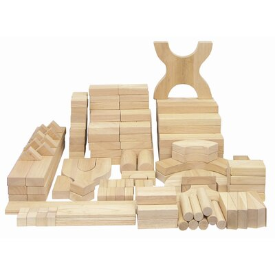 ECR4kids 170 Piece Hardwood Building Block Set