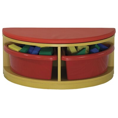 ECR4kids Half Circle Bench Reading Sectional