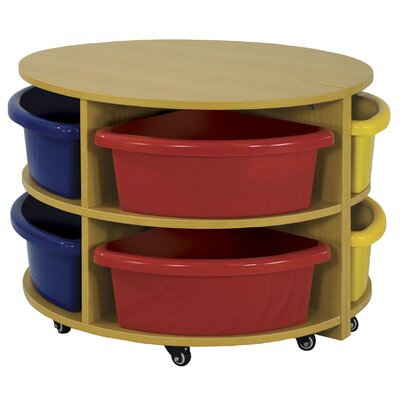 ECR4kids Two Piece Round Low Storage Center