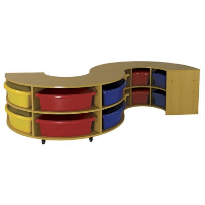 ECR4kids Two Piece Curved High Storage Center