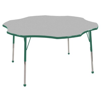 "ECR4kids 60"" Flower Shaped Adjustable Activity Table in Gray"