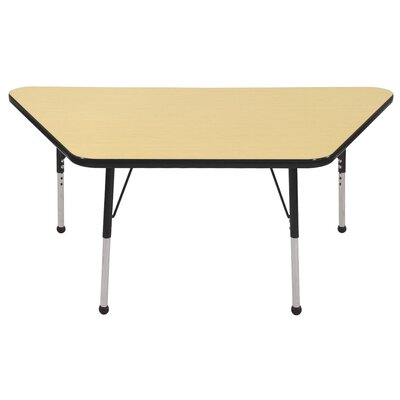 "ECR4kids 30"" x 60"" Trapezoid Activity Table in Maple"
