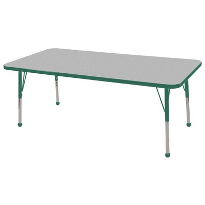 "ECR4kids 30"" x 60"" Rectangular Adjustable Activity Table in Gray"