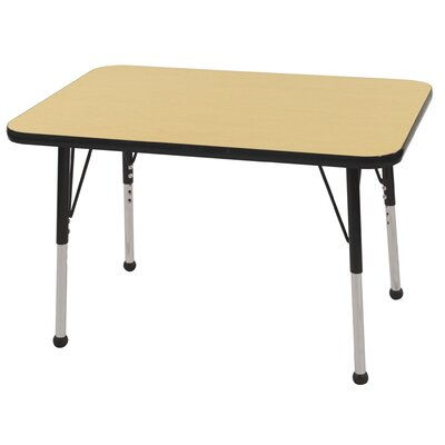ECR4kids 24x36 Rectangular Adjustable  Activity Table in Maple
