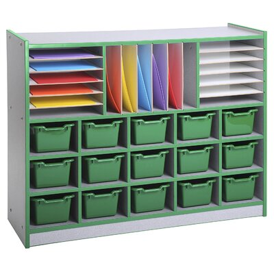 ECR4kids Multi-Section Laminate Storage Unit