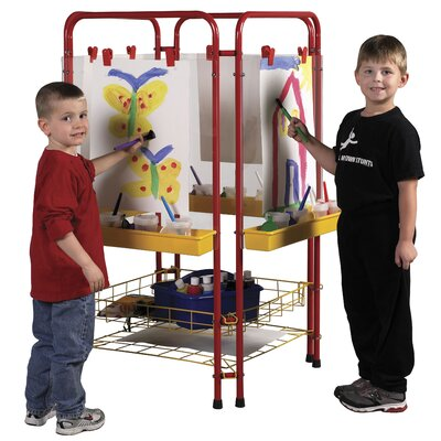 ECR4kids 4-Station Art Easel Center with Drying Rack
