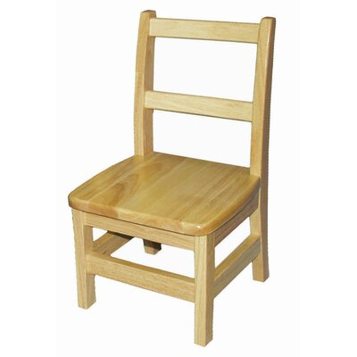 ECR4kids 14&quot; Hardwood Classroom Ladderback Chair