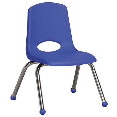 "ECR4kids 12"" Plastic Stack Chair with Chrome Legs"